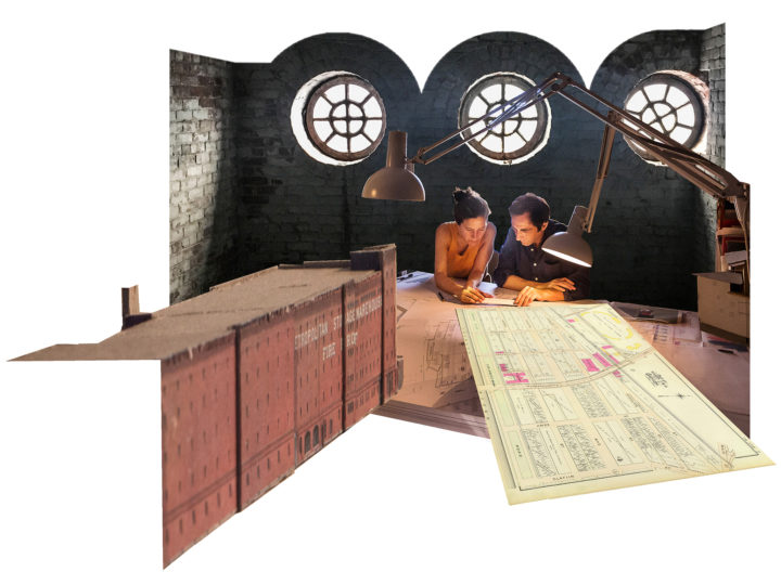 Flores & Prats' temporary working studio at the Met